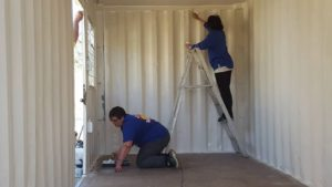 refurbishing the container2